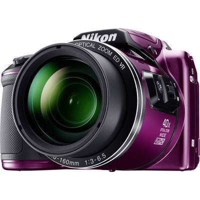 Nikon Coolpix B-500 Digitalkamera 16 Mio. Pixel Opt. Zoom: 40 x Lila Full HD Video, Klappb Preisvergleich