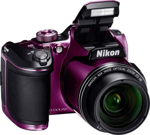 Nikon Coolpix B-500 Digitalkamera 16 Mio. Pixel Opt. Zoom: 40 x Lila Full HD Video, Klappbares Display, Bluetooth