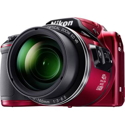 Nikon Coolpix B-500 Digitalkamera 16 Mio. Pixel Opt. Zoom: 40 x Rot Full HD Video, Klappba Preisvergleich