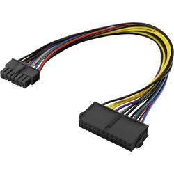 PC napájecí kabel Renkforce RF-4292130, 0.25 m, barevná