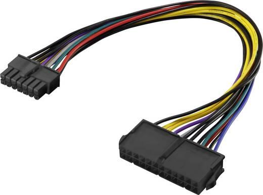 Renkforce Strom Anschlusskabel [1x ATX-Strom-Stecker 14pol. - 1x ATX-Strom-Buchse 24pol.] 0.25 m Bunt