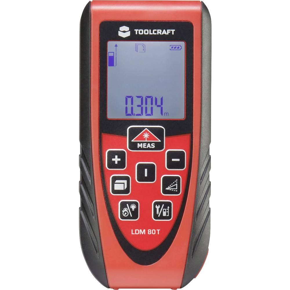 T l m tre laser toolcraft ldm 80t plage de mesure max for Ecksofa 1 80 m