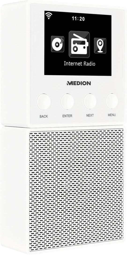 Medion E85032 (MD 87248) Internet Steckdosenradio Bluetooth®, Internetradio  Weiß