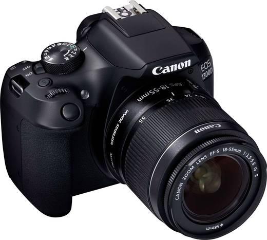 Digitale Spiegelreflexkamera Canon inkl. EF-S 18-55 mm IS II 18 Mio. Pixel Schwarz Full HD Video, WiFi, Blitzschuh, Opt
