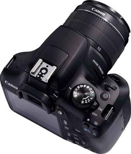 Digitale Spiegelreflexkamera Canon EOS-1300D EF-S 18-55 mm IS II 18 Mio. Pixel Schwarz Full HD Video, WiFi, Blitzschuh,