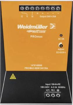 Síťový zdroj na DIN lištu Weidmüller PRO MAX 480W 24V 20A, 24 V, 20 A, 480 W
