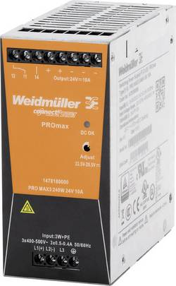 Síťový zdroj na DIN lištu Weidmüller PRO MAX3 480W 24V 20A, 24 V, 20 A, 480 W