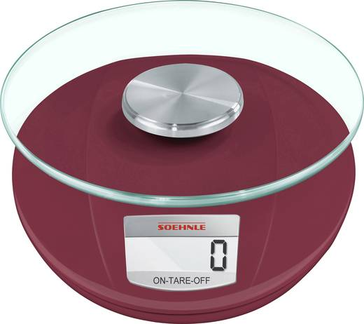 Digitale Kuchenwaage Soehnle Roma 5 Kg Rubin Rot Kaufen