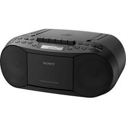 FM rádio s CD prehrávačom Sony CFD-S70B, AUX, CD, kazeta, MW, UKW, čierna