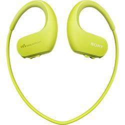 Športové štupľové slúchadlá Sony NW-WS413G NWWS413G.CEW, limetkovo zelená