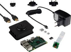 """Sada kamery pro Raspberry Pi® 3 Model B, 1 GB, Noobs, vč. napájecího adaptéru, vč. softwaru, vč. IP kamery, včetně operačního systému """"Noobs"""""""