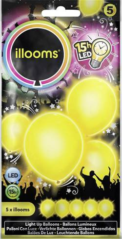 Ballons LED jaune illooms 33969 LED intégrée