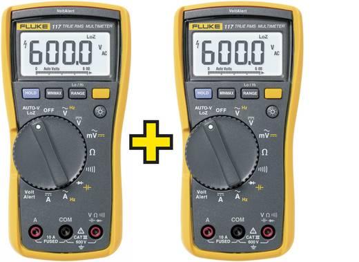 Hand-Multimeter digital Fluke 2 x FLUKE-117 EUR/TWIN Kalibriert nach: Werksstandard (ohne Zertifikat) CAT III 600 V Anz