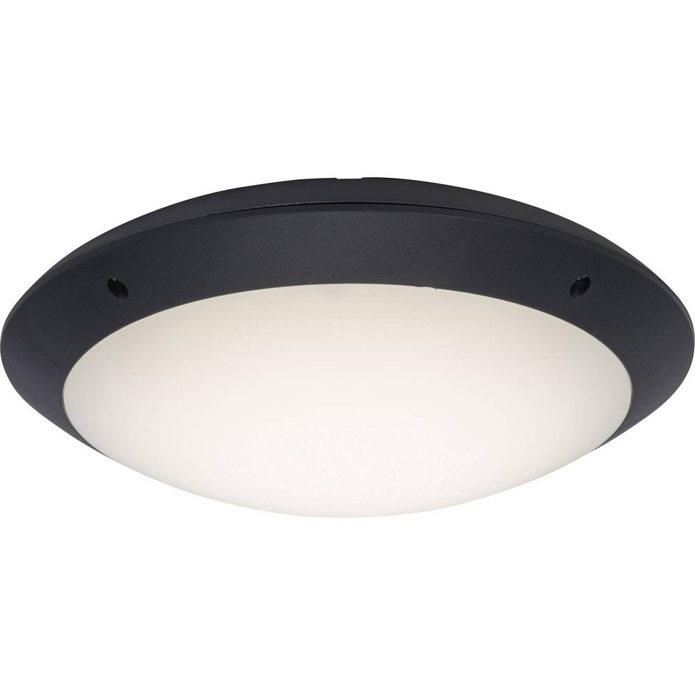 Plafonnier led ext rieur brilliant medway 12 w anthracite for Plafonnier led exterieur