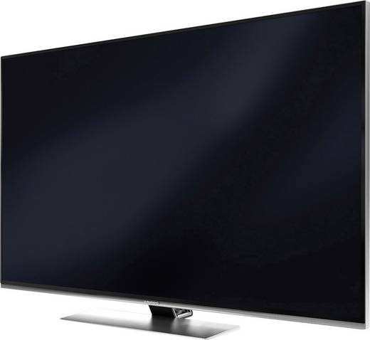 grundig 49gus9688 led tv 123 cm 49 zoll eek b 3d ci uhd wlan smart tv silber aluminium. Black Bedroom Furniture Sets. Home Design Ideas