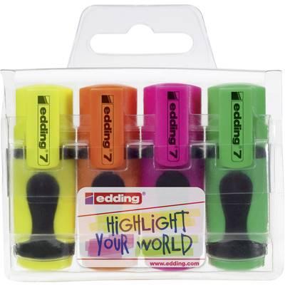 Edding Textmarker edding 7 4 St./Pack. Neongelb, Neongrün, Neonorange, Neonpink 1 mm, 3 mm Preisvergleich