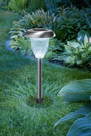 solar gartenleuchte led kalt wei warm wei esotec flower light 102604 edelstahl. Black Bedroom Furniture Sets. Home Design Ideas