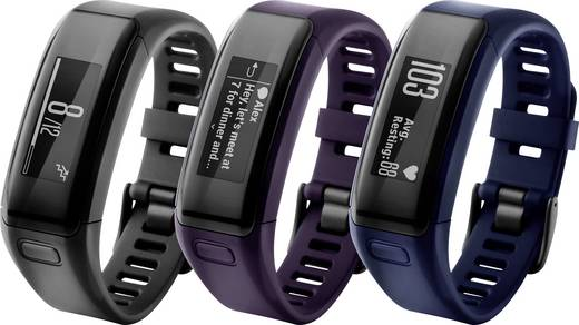 Fitness-Tracker mit integrierter Pulsfunktion Garmin vivosmart HR regular Violett