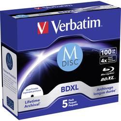 M-DISC Blu-ray 100 GB Verbatim Jewelcase, 43834, možnosť potlače, 1 ks