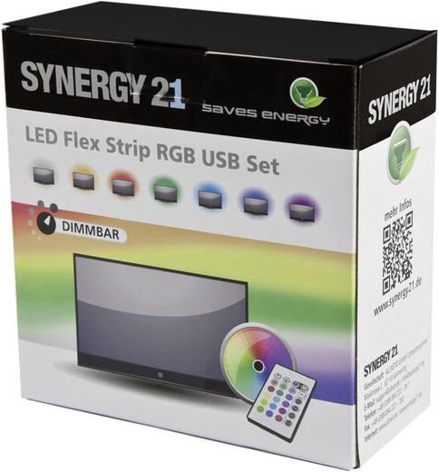 synergy 21 125181 led streifen komplettset mit usb anschluss 5 v 200 cm rgb. Black Bedroom Furniture Sets. Home Design Ideas