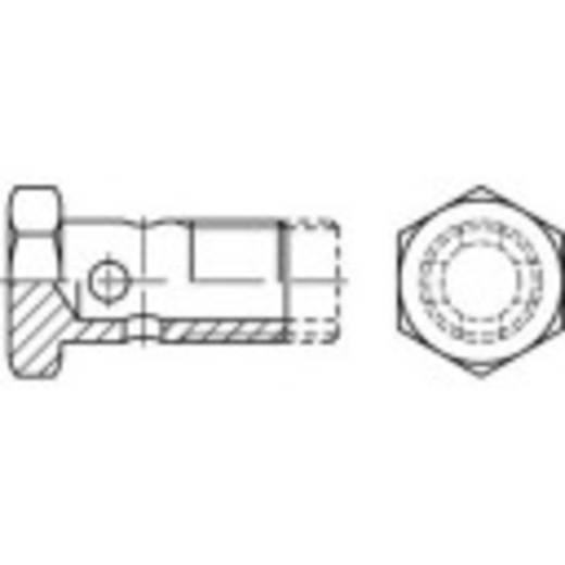 TOOLCRAFT 144014 Hohlschrauben M18 Außensechskant DIN 7643 Stahl galvanisch verzinkt, gelb chromatisiert 25 St.