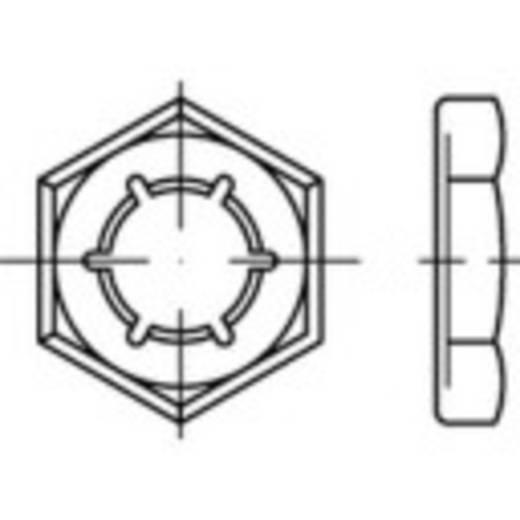 Sicherungsmuttern M6 DIN 7967 Federstahl galvanisch verzinkt 100 St. TOOLCRAFT 144064