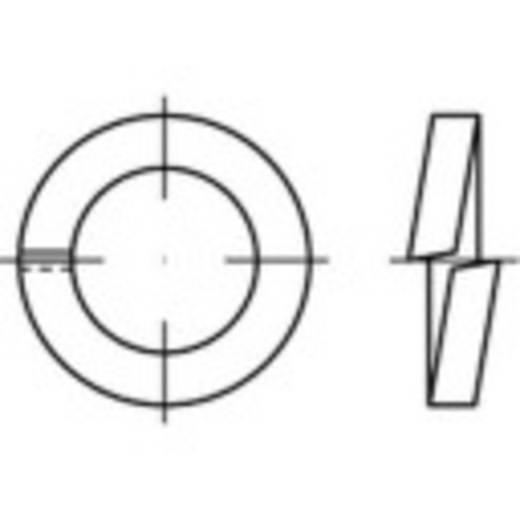 Federringe Innen-Durchmesser: 4 mm DIN 7980 Federstahl galvanisch verzinkt 100 St. TOOLCRAFT 144950