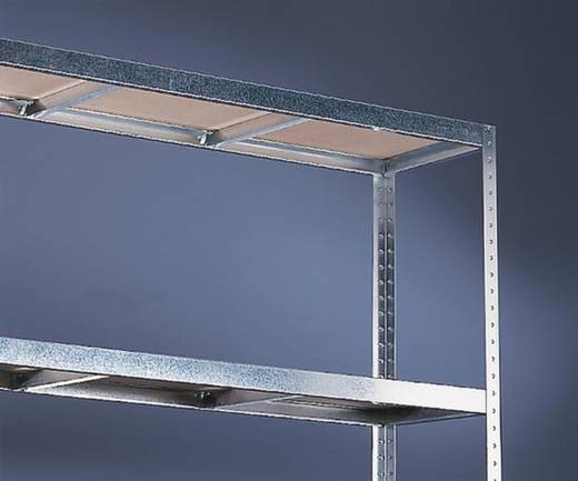 Weitspannregal-Grundmodul (B x H x T) 2504 x 1970 x 400 mm Stahl verzinkt Verzinkt Holzboden META 81125
