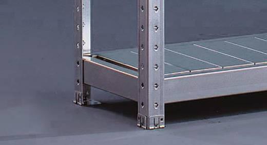 Weitspannregal-Grundmodul (B x H x T) 2004 x 1970 x 400 mm Stahl verzinkt Verzinkt Stahlpaneele META 87021