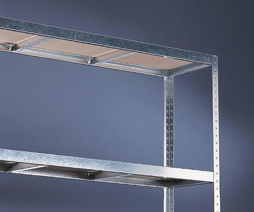 Weitspannregal-Grundmodul (B x H x T) 1704 x 2970 x 400 mm Stahl verzinkt Verzinkt Holzboden META 87056