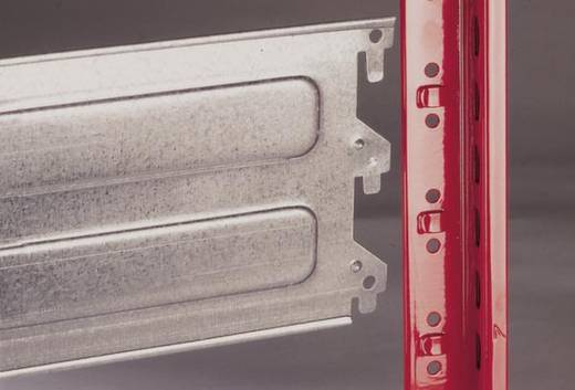 Weitspannregal-Grundmodul (B x H x T) 1562 x 2000 x 824 mm Stahl pulverbeschichtet, verzinkt Feuer-Rot, Verzinkt Holzbod