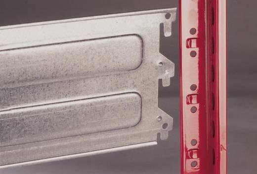 Weitspannregal-Grundmodul (B x H x T) 2066 x 2500 x 824 mm Stahl pulverbeschichtet, verzinkt Feuer-Rot, Verzinkt Holzbod
