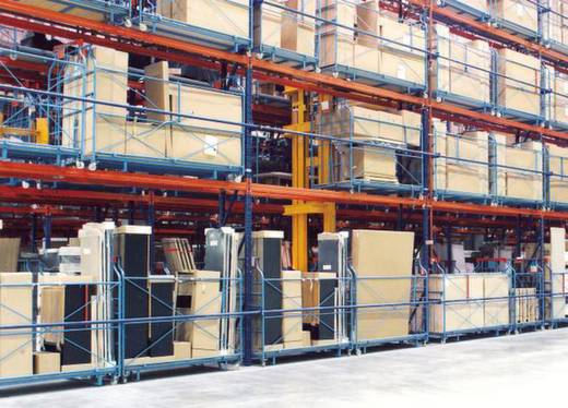 Weitspannregal-Grundmodul (B x H x T) 1970 x 2200 x 800 mm Stahl verzinkt, pulverbeschichtet Verzinkt, Rot-Orange Traver