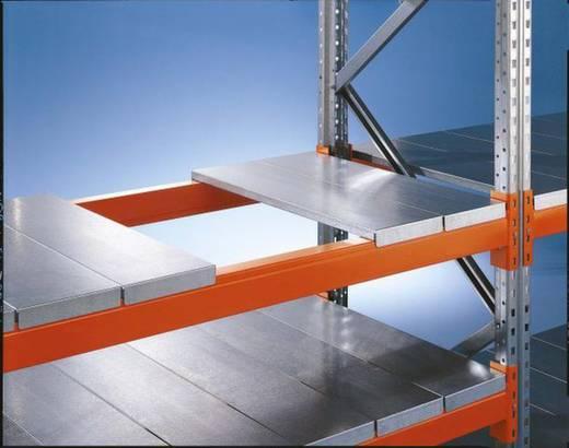 Weitspannregal-Anbaumodul (B x H x T) 1385 x 2200 x 800 mm Stahl verzinkt, pulverbeschichtet Verzinkt, Rot-Orange Stahlp