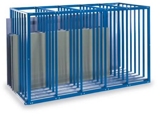 Plattenregal-Grundmodul (B x H x T) 1100 x 1750 x 3000 mm Stahl kunststoffbeschichtet Enzian-Blau 12/BL7-100-GRFO