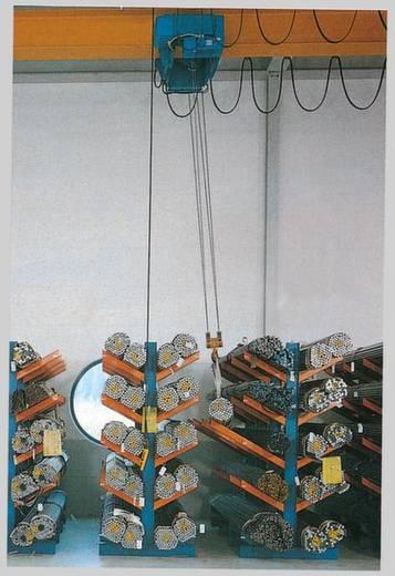 Kragarm-Komplettregal (Grund+Anbau) (B x H x T) 5400 x 2000 x 620 mm Stahl pulverbeschichtet Enzian-Blau, Reinorange 2