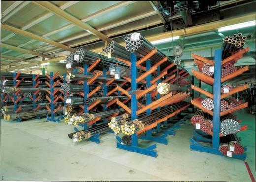 Kragarm-Komplettregal (Grund+Anbau) (B x H x T) 2500 x 2000 x 1120 mm Stahl pulverbeschichtet Enzian-Blau, Reinorange