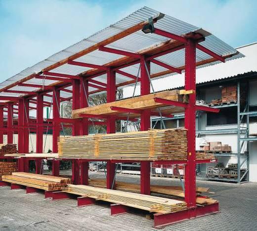 Kragarmregal Stahl sandgestrahlt, pulverbeschichtet IPE 160/80 Narzissengelb (RAL 1007)