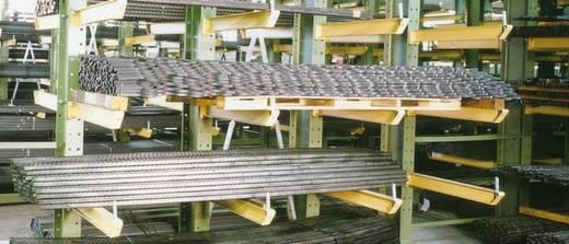 Kragarmregal Stahl sandgestrahlt, pulverbeschichtet IPE 120 Narzissengelb (RAL 1007)