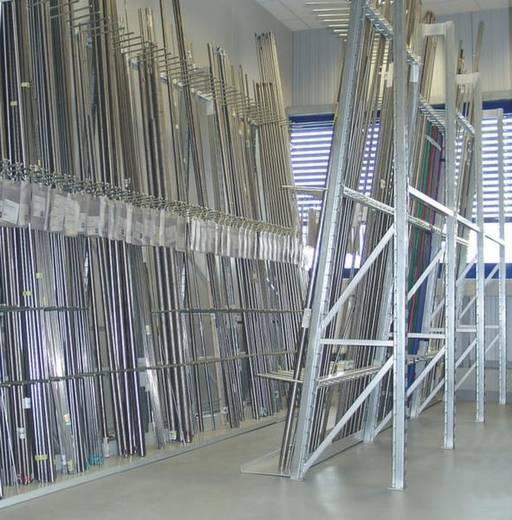 Vertikalregal-Grundmodul (B x H x T) 1532 x 2000 x 1210 mm Stahl verzinkt Wannenboden 50011 Verzinkt