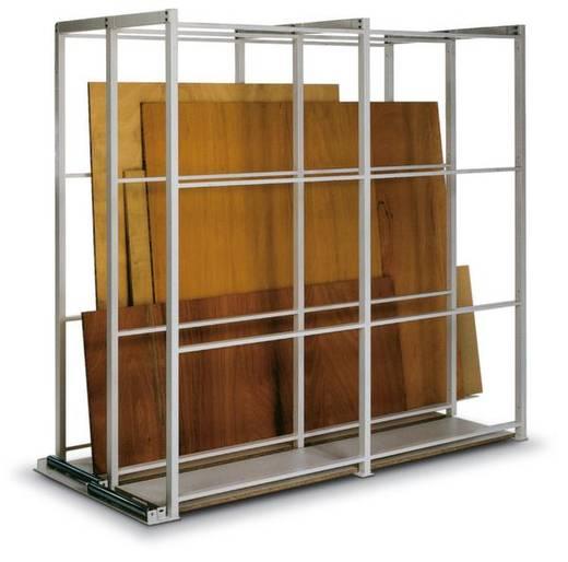 Plattenregal-Grundmodul (B x H x T) 920 x 2285 x 2500 mm Stahl pulverbeschichtet Reinweiß SPG 25