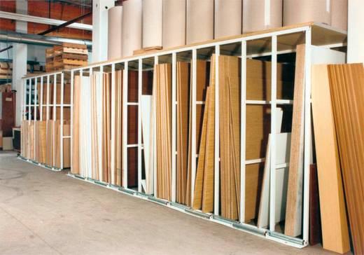 Plattenregal-Anbaumodul (B x H x T) 440 x 2285 x 2500 mm Stahl pulverbeschichtet Reinweiß SPA 25B