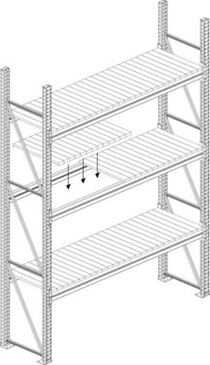 Fachboden (B x T) 3300 mm x 800 mm Stahl Stahlpaneele META 79796