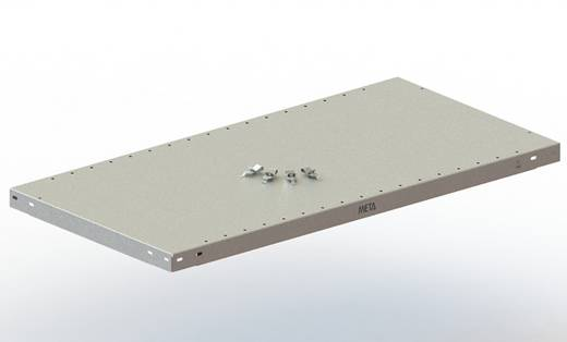 Fachboden (B x T) 750 mm x 600 mm Stahl pulverbeschichtet Lichtgrau Metallboden META 74402