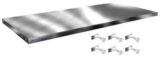 Fachboden (B x T) 1300 mm x 600 mm Stahl verzinkt Verzinkt Metallboden Orion Regalsysteme Z13060L/051