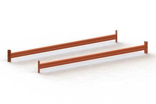 Fachboden (B x T) 1800 mm x 800 mm Stahl pulverbeschichtet Rot-Orange Traversen META 80410