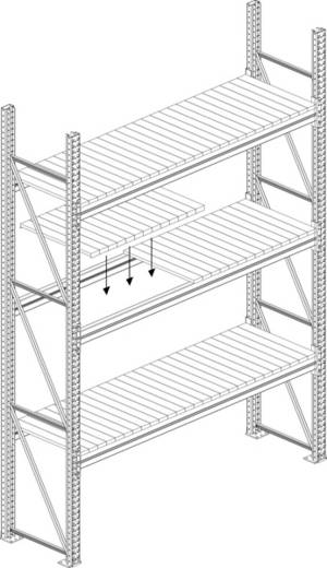 Fachboden (B x T) 1800 mm x 800 mm Stahl verzinkt Verzinkt Stahlpaneele META 57903