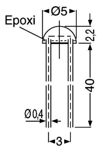 Lichtwiderstand A 9060 THT 1 St. (Ø x H) 5 mm x 2.5 mm