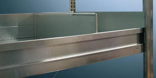 Fachbodenregal (B x H) 1300 mm x 75 mm Stahl META 97150 Lichtgrau (RAL 7035)