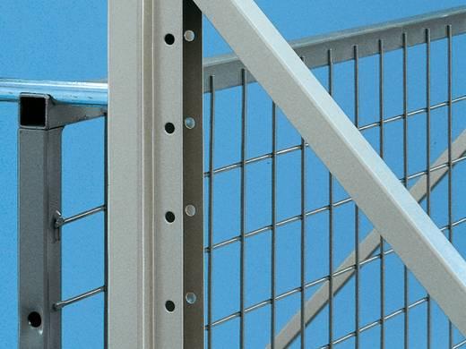 Palettenregal (B x H) 3600 mm x 1100 mm Stahl pulverbeschichtet META 91444 Enzianblau (RAL 5010)